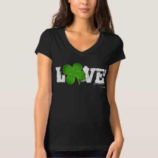 LOVE ST. PATRICK'S DAY VNECK SEXY TOP CLOVER