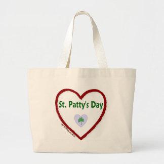 Love St. Patty's Day Jumbo Tote Bag