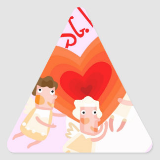 love - st valentine triangle sticker