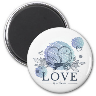 """""""Love"""" Standard, 2¼ Inch Round Magnet"""