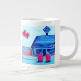 ...love station...art by Jutta Gabriel... Large Coffee Mug