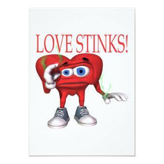 Love Stinks 13 Cm X 18 Cm Invitation Card