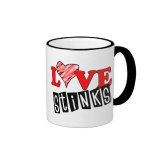 Love Stinks Gifts Ringer Mug