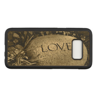 """Love"" Stone Carved Samsung Galaxy S8 Case"