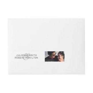 Love Story | Photo Wrap Around Address Labels Wraparound Address Label