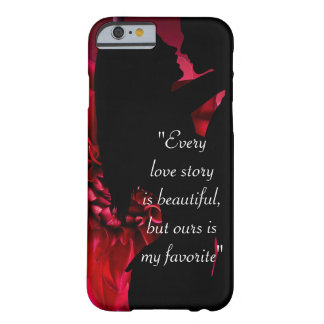 Love story quote kiss lover background barely there iPhone 6 case