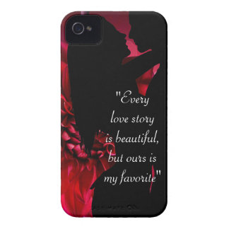 Love story quote kiss lover background iPhone 4 Case-Mate cases