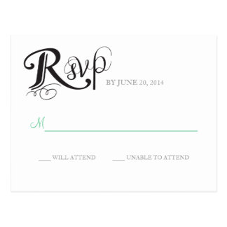 Love Story Wedding Reply Postcard