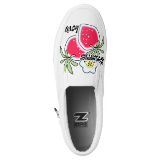 Love strawberries slip on shoes