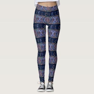 Love Stripe Pattern Leggings