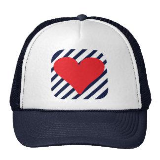 LOVE STRIPES MESH HAT