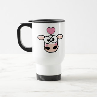 Love Struck Cow Travel Mug
