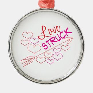 Love Struck Silver-Colored Round Decoration