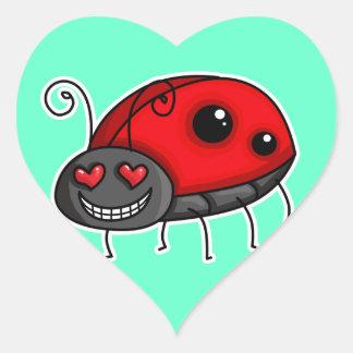 Love Struck Ladybird/Ladybug Heart Sticker