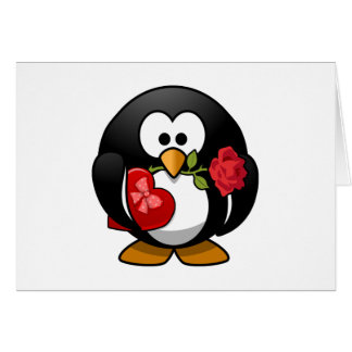 Love Struck Penguin With Valentine Gifts Card