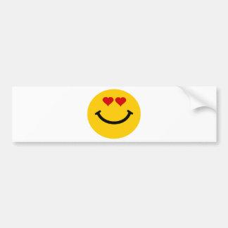 Love struck smiley bumper sticker