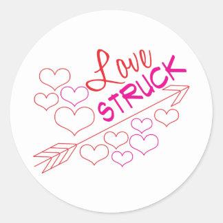 Love Struck Round Sticker