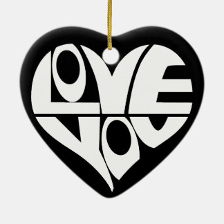 love styled text Heart Ornament