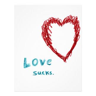 Love Sucks 21.5 Cm X 28 Cm Flyer