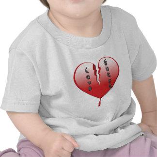 Love Sucks Broken Heart Tee Shirts