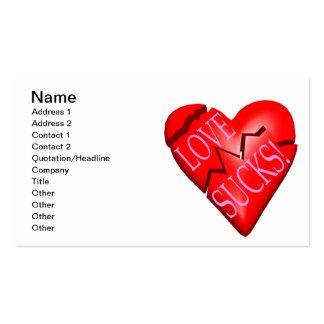 Love Sucks Pack Of Standard Business Cards