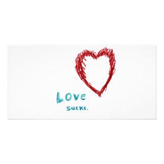 Love Sucks Personalized Photo Card