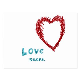 Love Sucks Postcard