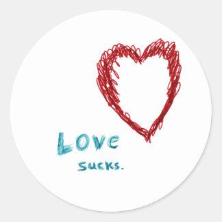 Love Sucks Round Sticker