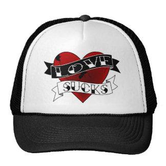 Love Sucks Tattoo Trucker Hats