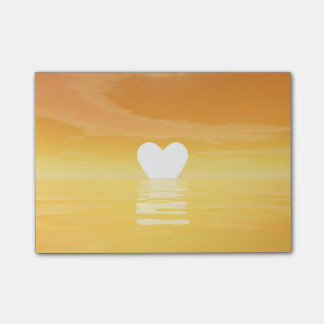 Love sunset - 3D render Post-it Notes