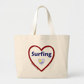 Love Surfing Canvas Bags