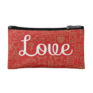 Love Surrounded by Hearts | Cosmetic Bag