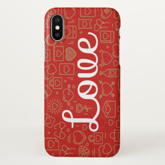Love Surrounded by Hearts | iPhone X Case