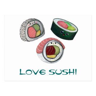 Love Sushi Postcard