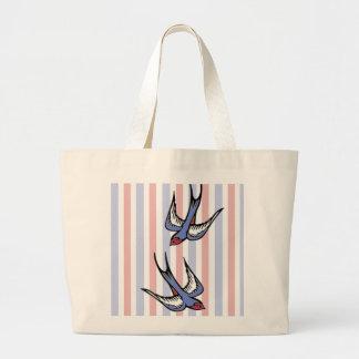 Love Swallows Canvas Bags