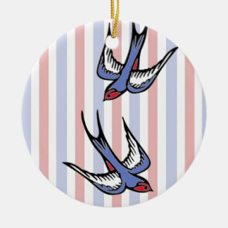 Love Swallows Christmas Ornament