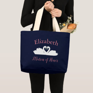 Love Swans Matron of Honor Large Tote Bag