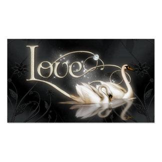 Love Swans Wedding Business Card