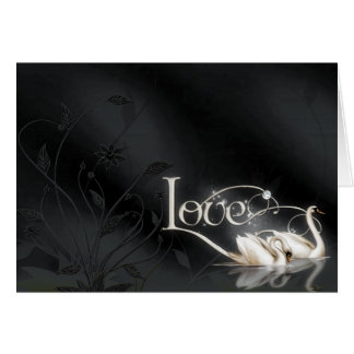 Love Swans Wedding Note Card