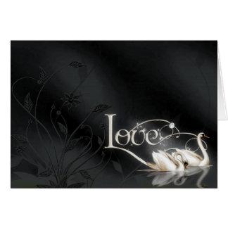 Love Swans Wedding Greeting Cards