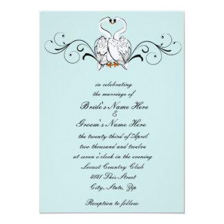 Love Swans Wedding Invitation