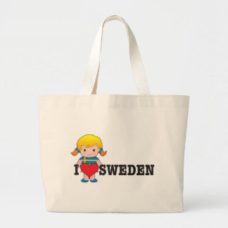 Love Sweden Large Tote Bag