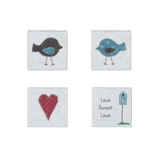 'Love Sweet Love' Magnets Stone Magnet