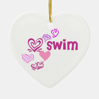 Love Swim Christmas Ornament