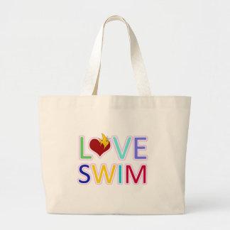 LOVE SWIM LARGE TOTE BAG