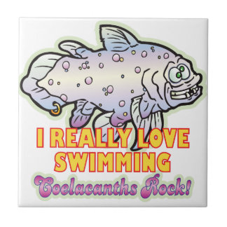 Love Swimming Coelacanth Ceramic Tile