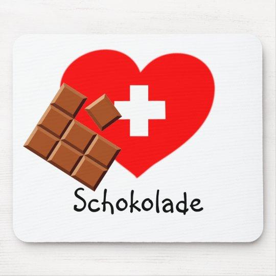 Love Swiss Chocolate! - Switzerland mousepad