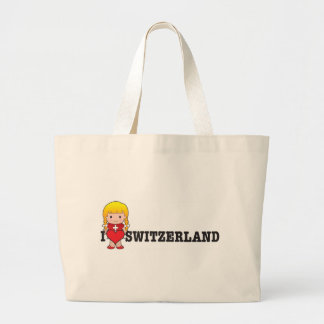 Love Switzerland Large Tote Bag