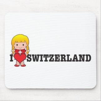 Love Switzerland Mouse Mat