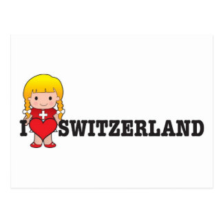 Love Switzerland Postcard